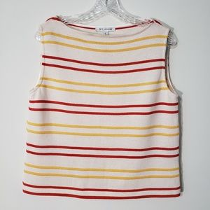 St. John knit sleeveless striped top